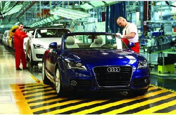 Audi production in Győr